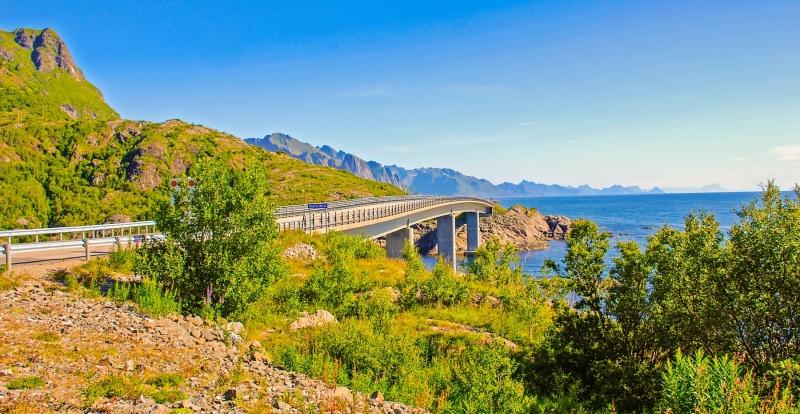 Djupfjordbrua Bridge Moskenes