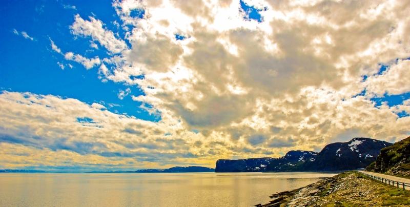 Porsangenfjord near Ytre Svartvikka