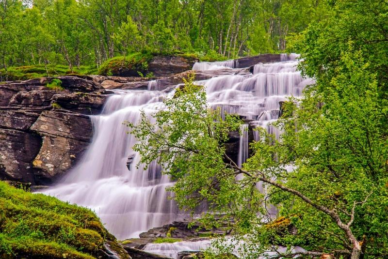 Waterfall near Grov