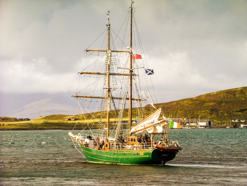 Asgard II in Oban Harbour