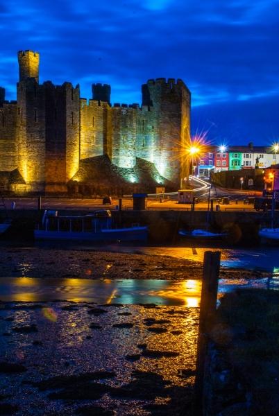 Caernavon Castle at Twilght