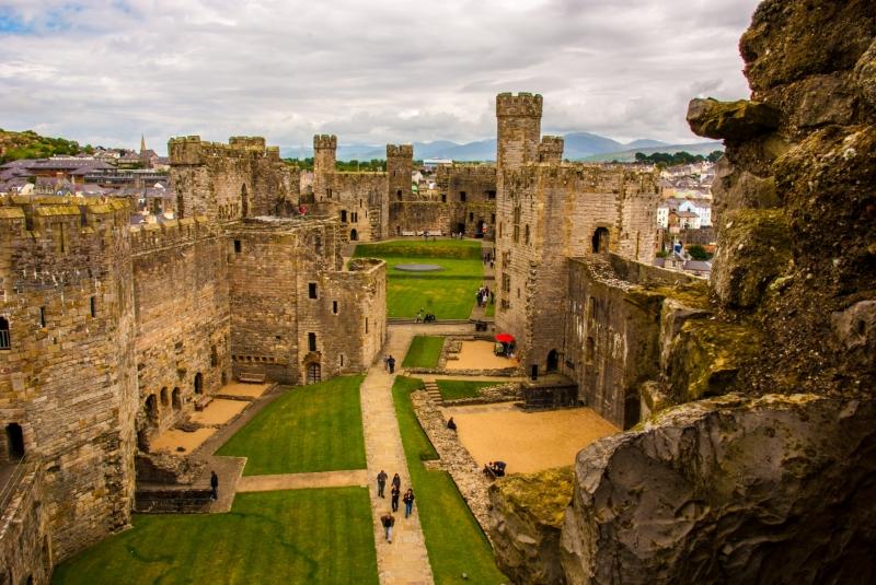 Inside Caernafon Castle